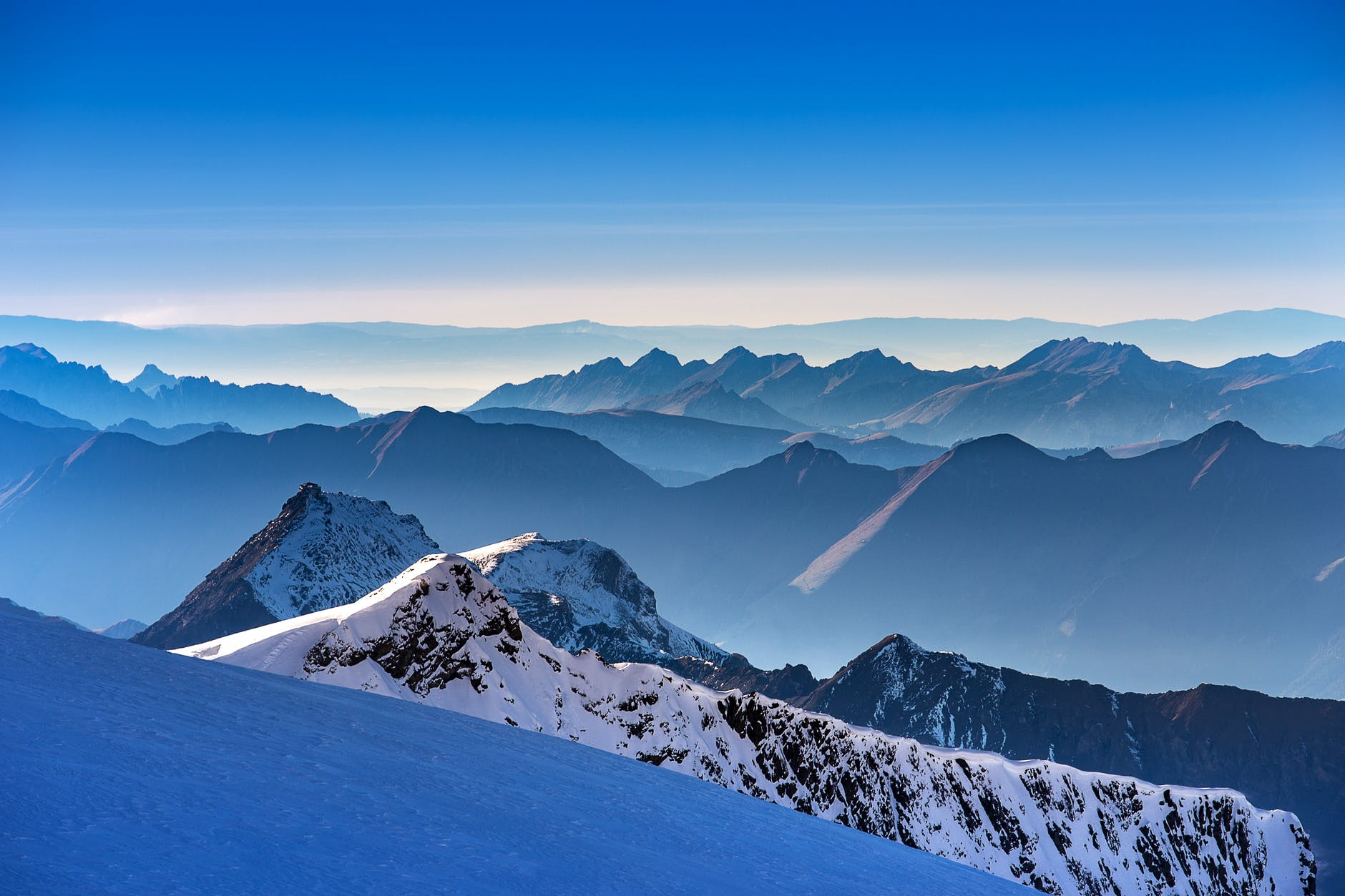 landscape photo of snow covered mountains