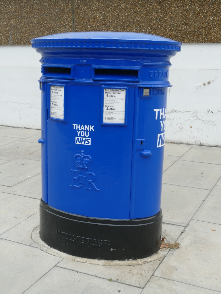 NHS blue post box London